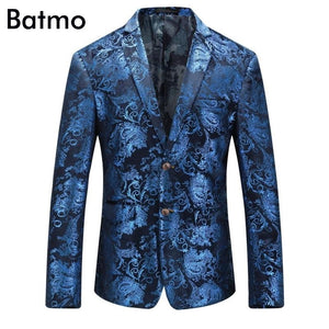Batmo Mens High Quality Gothic Velvet Printed Blazer Jacket