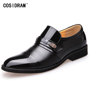 Mens Gothic Steampunk Oxford Slip On PU Leather Dress Shoes Black or Brown Black Shoes