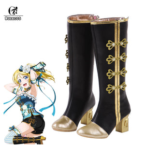 ROLECOS LoveLive Gothic Victorian Steampunk Boots Cosplay Boots Kotori Minami Boots Tojo Nozomi Cosplay