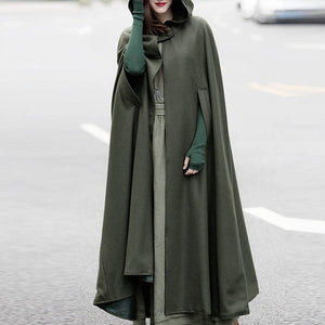 2018 Womens Gothic Medieval Victorian Hooded Cloak Cape Coat Plus Sizes