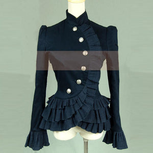 Womens Gothic Victorian Ruffled Jacket