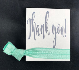Thank You Card (fits one hair tie) - 10 pack