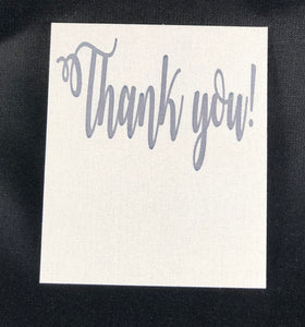 Great Thank You Card (fits Two Hair Ties)   10 Pack