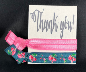 Thank You Card (fits two hair ties) - 10 pack