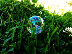 lush lawn with bubble on top