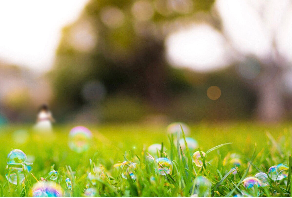 lawn with bubbles