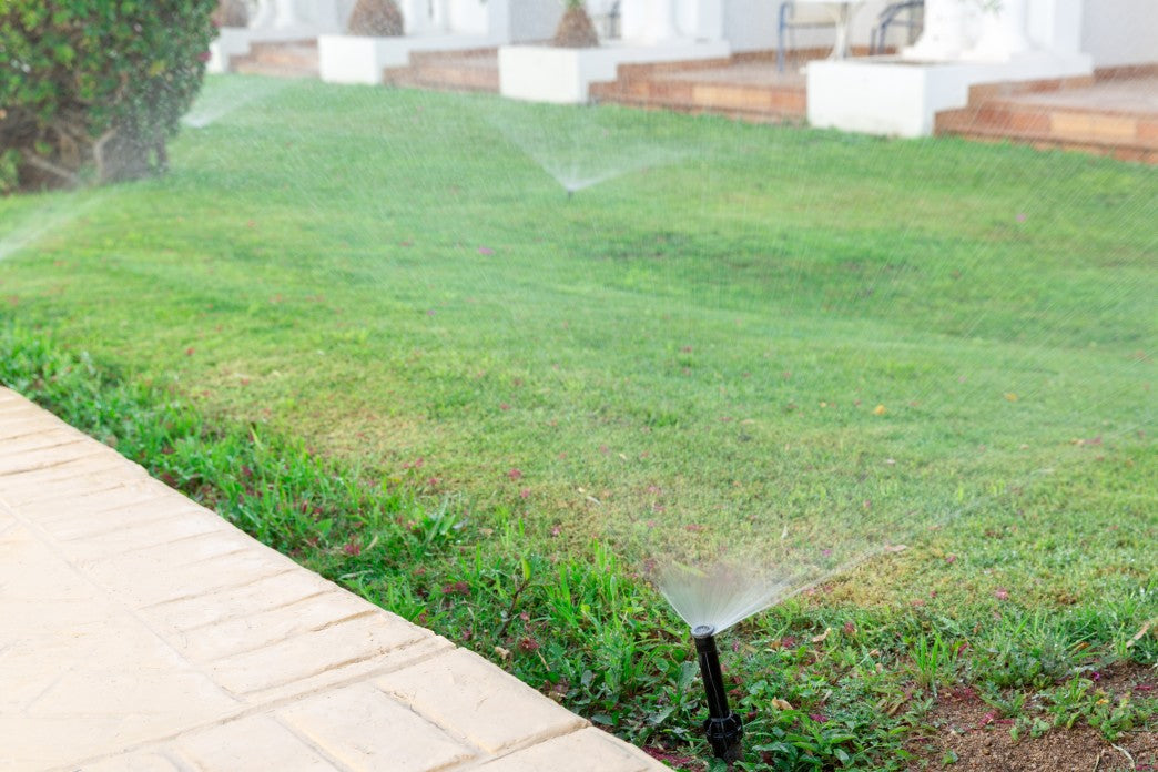 sprinklers on lawn