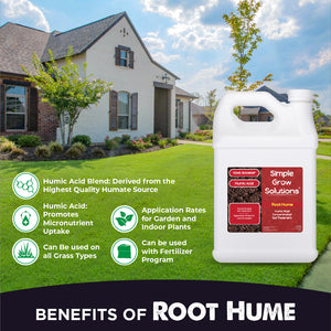 Benefits of Root Hume. Enhances Soil's mineral content, aids nutrient uptake, boosts organic matter in soil, supports root development, buffers soil pH, promotes seed germination.
