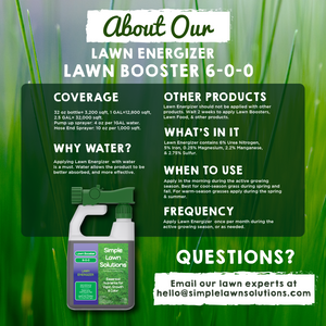 Lawn Booster: Lawn Energizer Chelated Iron & Nitrogen Blend (2.5 Gallons)