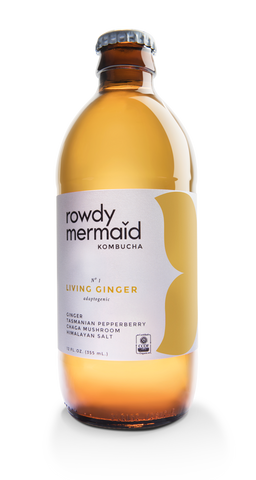 rowdy mermaid kombucha living ginger
