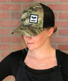 Rowdy Mermaid Flex-Fit Retro Trucker Hat - Unisex (camo)