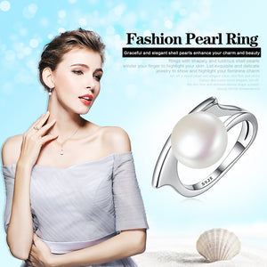 Sterling Silver Fresh Water Cultured Pearl Rings
