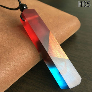 Handmade Vintage Resin Wood Necklaces Pendants