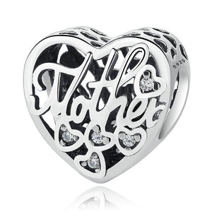 Silver Charms Love Beads Fits Pandora Bracelet