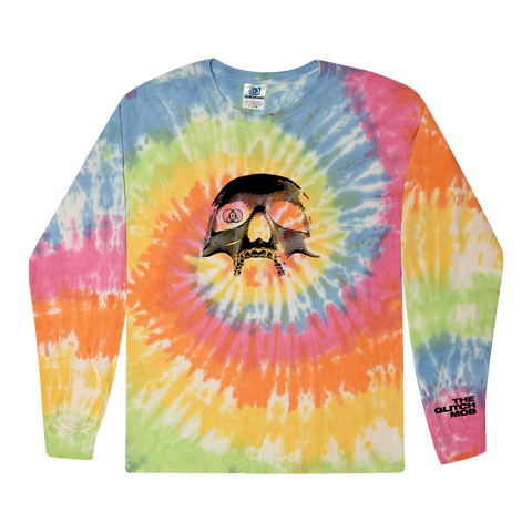 Skull Tie Dye Long Sleeve