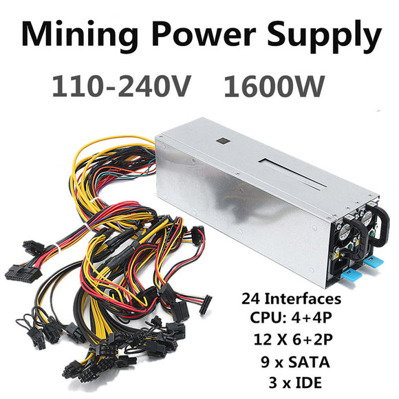 1600W Miner Power Supply Machine Mining Power Supply For Eth Bitcoin Miner Antminer Server S7 S9 T9 E9 A7