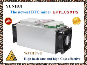 Newest 14nm Asic Miner BTC Miner Ebit E9 Plus 9T  (with psu) better than Antminer S7 and low price than S9 good economy miner .