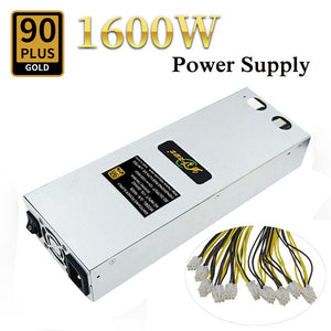 1600W Mining Power Supply For Antminer S9 S7 L3+D3 APW3 A6 A7 Machine Miner High Quality Computer Power Supply For BTC