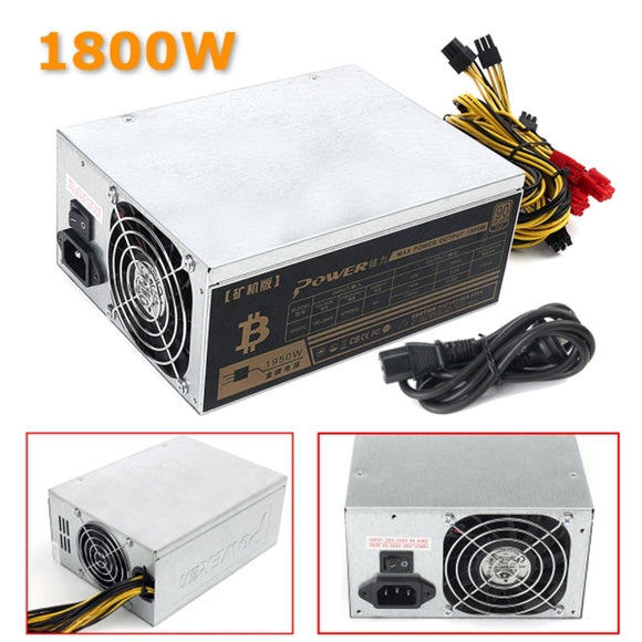 1600W Mining Machine Power Supply For Eth Bitcoin Miner Antminer S7 S9 90 Gold High Quality Computer Power Supply For BTC