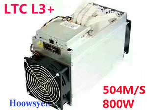 Miner Machine ANTMINER L3+ LTC Mining Machine 504M 800W on wall Better Than ANTMINER L3 suitable