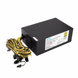1800W High-efficiency 6+2 Pin Miner Mining Machine Power Supply For Antminer A6/7 S7/9 L3+ D3 R4 with Double Cooling Fans