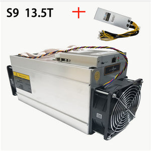 AntMiner S9 13.5T Bitcoin Miner with power supply