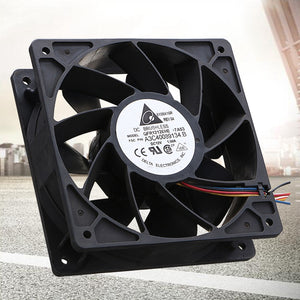 6000RPM New Computer Cooling cooler fan For BTC Cooling Fan Replacement 4-pin Connector For Antminer Bitmain S7 S9 Black