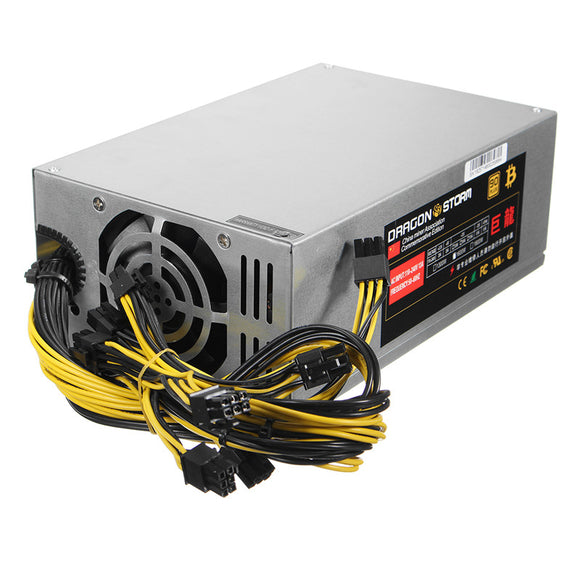 6pin*10 1600W ATX Power Supply For ETH S7 S9 for L3 + High Quality Mining Machine Power Supply for  Eth Bitcoin Miner Antminer