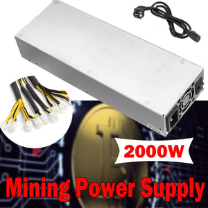 MAX 2000W 8 Card Power Supply For Eth Ethereum Coin Miner Antminer S7 S9 Dedicated High quality computer Power supply For BTC