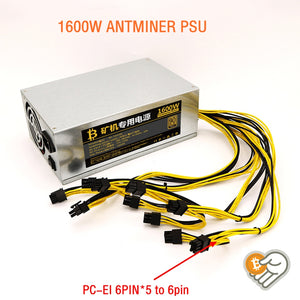 Mining rig sever power supply for Antminer R4 1600W psu  for source machine  bitmain antminer L3+ antminer S7 S9 D3 R4 E9 E9+