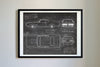 Pontiac GTO The Judge (1969) da Vinci Sketch Art Print Blackboard