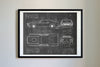 Ford Mustang BOSS 429 (1969) da Vinci Sketch Art Print Blackboard