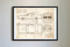 Pontiac GTO The Judge (1969) da Vinci Sketch Art Print Vintage