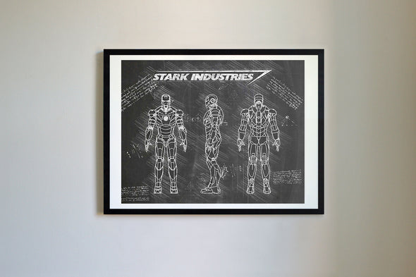 Iron Man Mark III Art Print Blackboard