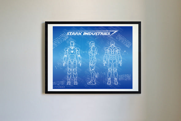 Iron Man Mark III Art Print Blueprint