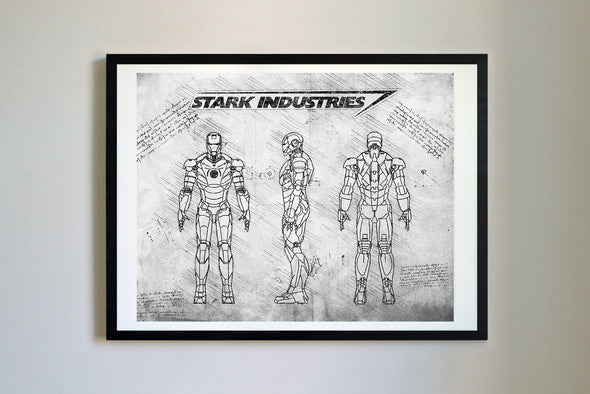 Iron Man Mark III Art Print Grunge