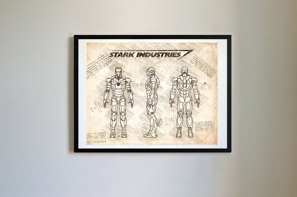 Iron Man Mark III Art Print Vintage