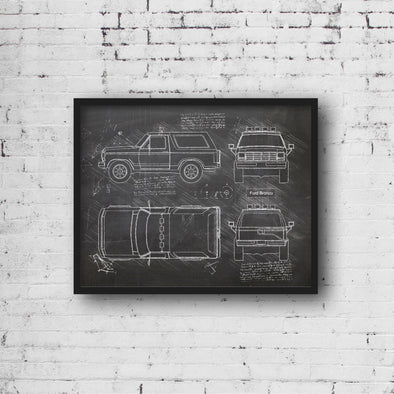 Ford Bronco (1984-90) da Vinci Sketch Art Print (#430)