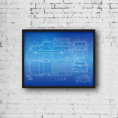 Dodge Ram 1500 (2002-09) da Vinci Sketch Art Print (#711)