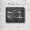 StarWars Imperial Star Destroyer Art Print Blackboard