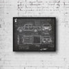 Jeep Gladiator (2019-Present) da Vinci Sketch Art Print Blackboard