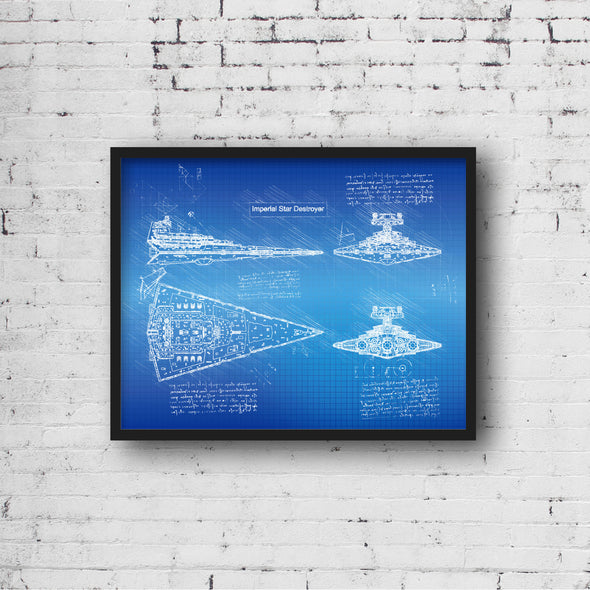 StarWars Imperial Star Destroyer Art Print Blueprint