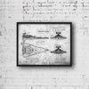 StarWars Imperial Star Destroyer Art Print Grunge