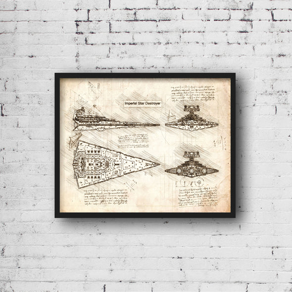 StarWars Imperial Star Destroyer Art Print Vintage