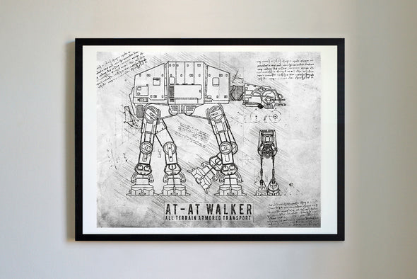 StarWars AT-AT Art Print Grunge