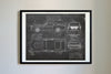 Ford Mustang Shelby GT500 Eleanor (1967) da Vinci Sketch Art Print Blackboard