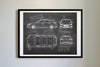 Ford Focus ST-line (2018) da Vinci Sketch Art Print Blackboard