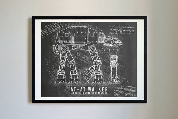 StarWars AT-AT Art Print Blackboard