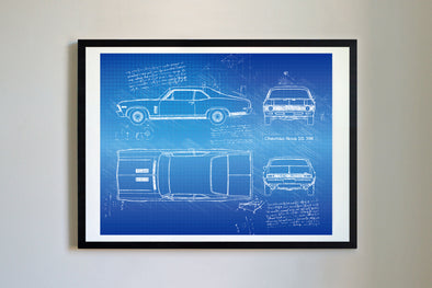 Chevrolet Nova SS 396 (1968-72) Art Print Blueprint