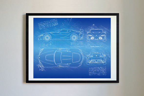 Toyota Supra FT-1 (2015) da Vinci Sketch Art Print Blueprint